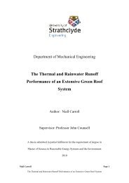 The Thermal and Rainwater Runoff Performance of an Extensive ...