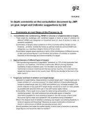 In depth comments on the consultation document by JMP on goal ...