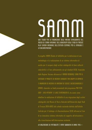 Il progetto SAMM - Museo di Storia Naturale - Università degli Studi ...