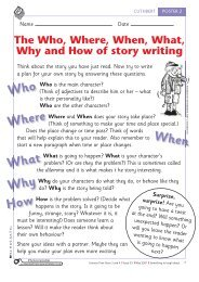 The Who, Where, When, What, Why and How of story ... - Scholastic