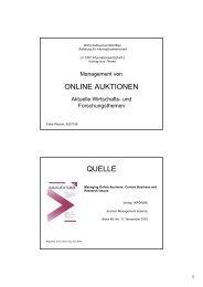 ONLINE AUKTIONEN QUELLE - Institute for Information Business