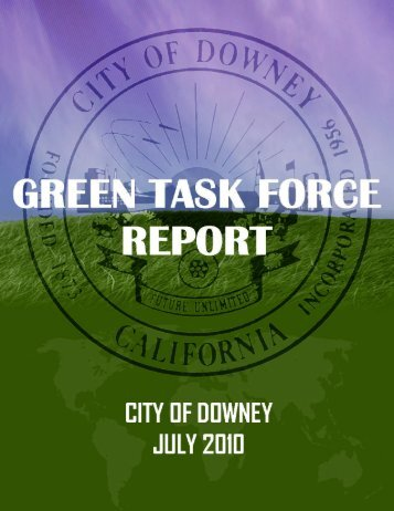 Green Task Force Report - City of Downey