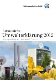 Umwelterklärung 2012 - Volkswagen AG