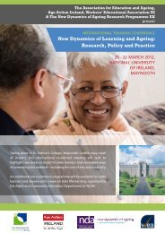 New Dynamics of Learning and Ageing: Research, Policy and Practice