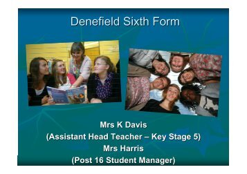 Denefield Sixth Form - Denefield School