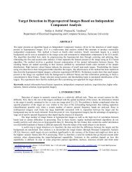 Target detection in hyperspectral images based on independent ...