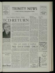 TRIN ITY N EWS TCD RETURN - Trinity News Archive
