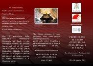 Brochure del Corso di canto gregoriano a Farfa - Assisi OFM
