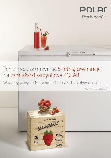 Teraz możesz otrzymać 5-letnią gwarancję na zamrażarki ... - Polar