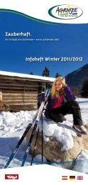 Broschüre Infoheft Winter 2011/2012 - Achensee