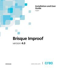 Brisque Improof Installation and User Guide - Kodak