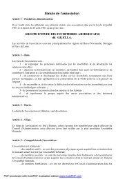 Statuts de l'association GROUPE D'ETUDE DES ... - Gretia