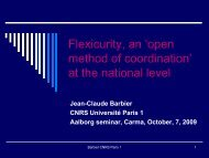 Flexicurity, an 'open method of coordination' at the national level