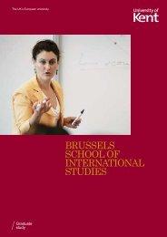 brussels school of international studies - Study in the UK