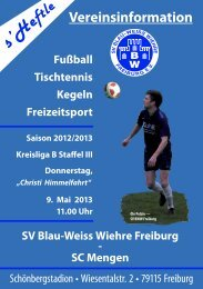 9.5.2013 SV Blau-Weiss Wiehre gegen SC Mengen