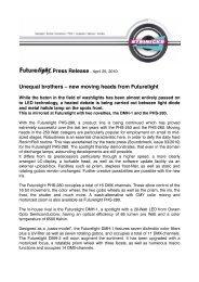 new moving heads from Futurelight - Steinigke Showtechnic GmbH