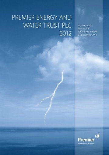 Premier Energy and Water Trust - ANNUAL REPORT 2012