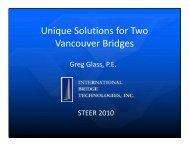 l f Unique Solutions for Two Vancouver Bridges