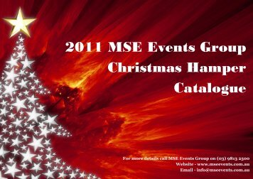MSE Hamper Catalogue 2011 - MSE Events