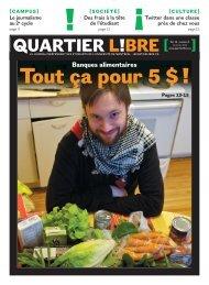 Numéro 9 Banques alimentaires - Tout ça pour 5 - Quartier Libre