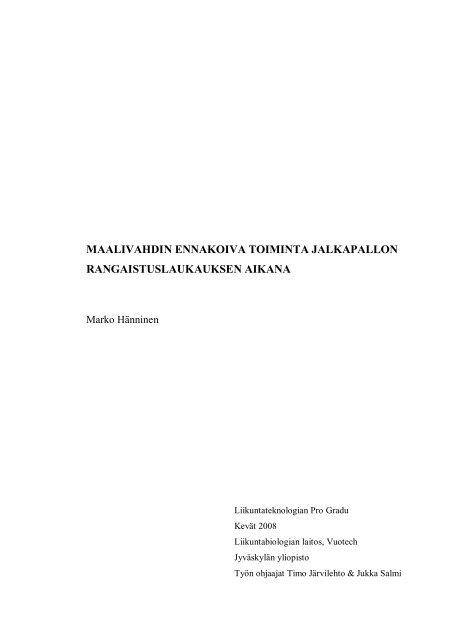 Kandidaatin tutkielman ja pro gradun julkaisu