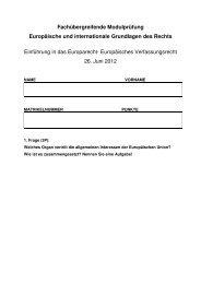 FÜM Juni 2012 - Institut für Europarecht, Internationales Recht und ...