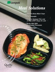 Ovenable Food Trays - CPET Meal Trays For Freezing ... - Genpak