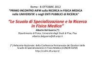 Prof. Alberto DEL GUERRA - Le Scuola di Specializzazione e ... - Aifm