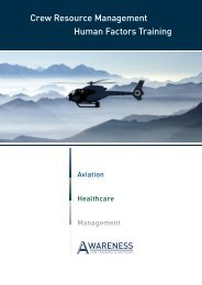 Crew Resource Management Human Factors ... - Awareness CRM