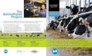 2050Dairy Industry Innovation Partnership - Dairy Farmers of Ontario