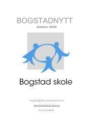 oktober 2009 - Bogstad skole