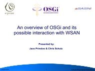 An overview of OSGi and its possible interaction with WSAN