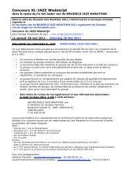 concours XL JAZZ wedstrijd-reglement 2011 - Jazz in Belgium