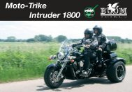 Moto-Trike Intruder 1800 Plicense - Boom Trikes