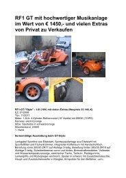 RF1 GT mit hochwertiger Musikanlage im Wert von € 1450