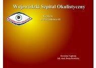 Poprawa jakości usług i wyników ekonomicznych w Wojewódzkim ...