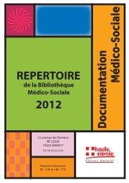 Le répertoire médico-social - Conseil Général de Haute-Savoie