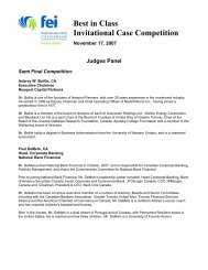 Best in Class Invitational Case Competition