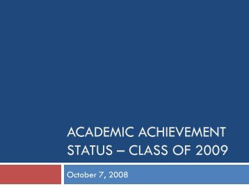 Class of 2009 - Bremen High School District 228 / Overview