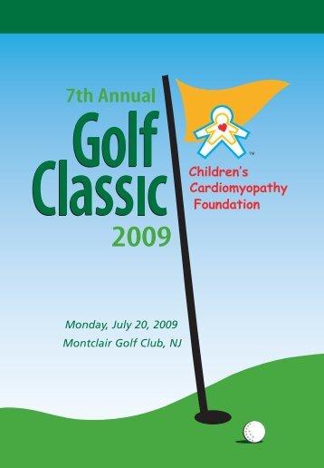 Monday, July 20, 2009 Montclair Golf Club, NJ - Children's ...