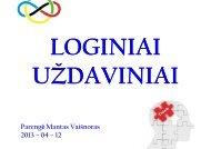 """""""Loginiai uždaviniai"""". M. Vaišnoras. - Vilniaus lietuvių namai"""