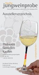 Genießen in Perfektion: Das Glas mit Ökoprofil. - Jungweinprobe