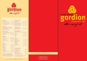 Restaurant · Bar Steaks & Meer - Gordion