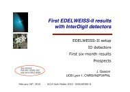 First EDELWEISS-II results - UCLA Physics & Astronomy