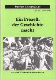 Historische Tatsachen - Nr. 36 - Udo Walendy - Ein Prozess der ...