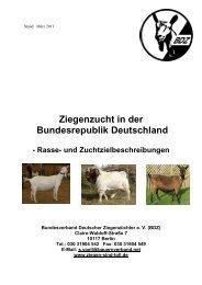 Rasse- und Zuchtzielbeschreibungen - Landesverband der ...