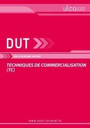 DUT Techniques de Commercialisation - Université du Littoral Côte ...