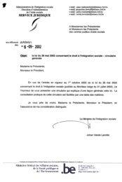 la loi du 26 mai 2002 concernant le droit à l'intégration sociale ...