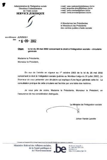 La Loi Du 26 Mai 2002 Concernant Le Droit LintCgration Sociale