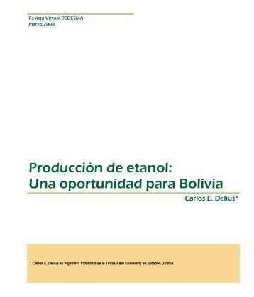 Producción de etanol: Una oportunidad para Bolivia - Revistas ...